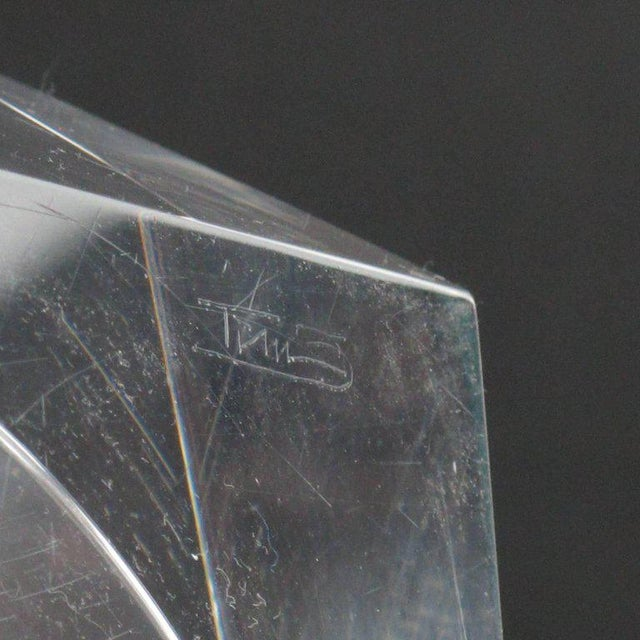Mid-Century Modern Italian Prismatic Lucite Box For Sale - Image 10 of 11