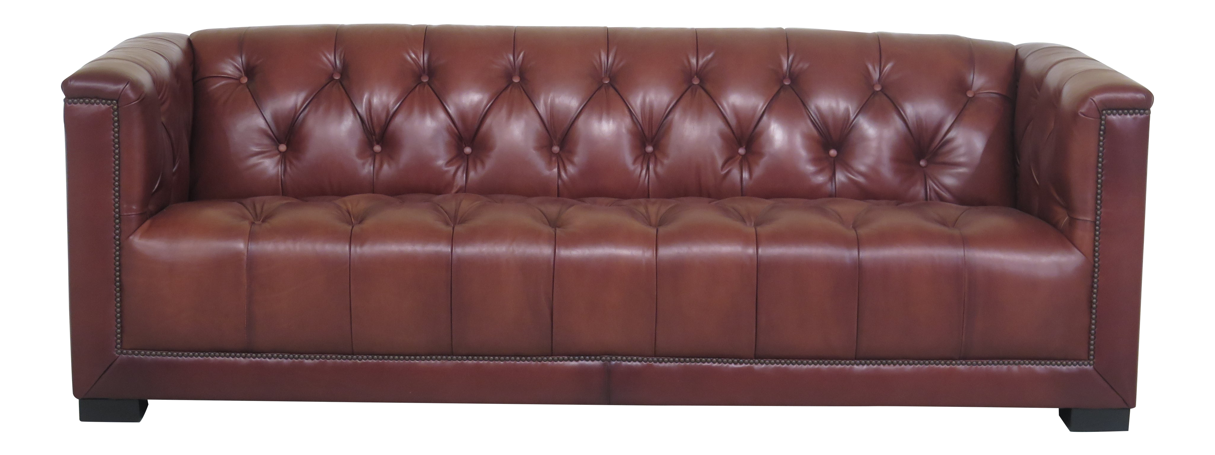 - Modern Maitland Smith 3188 Tufted Brown Leather Sofa Chairish