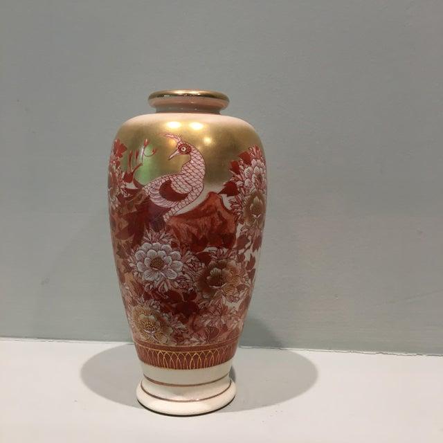 Floral Red White Japanese Vase Chairish