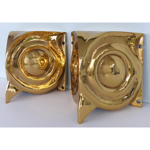 1930s 1930s French Art Deco Gilt Bronze Owl Sconces - a Pair For Sale - Image 5 of 12