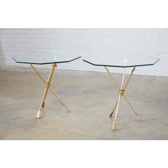 Pair of Maison Jansen Style Directoire Arrow Drink Tables For Sale - Image 11 of 13