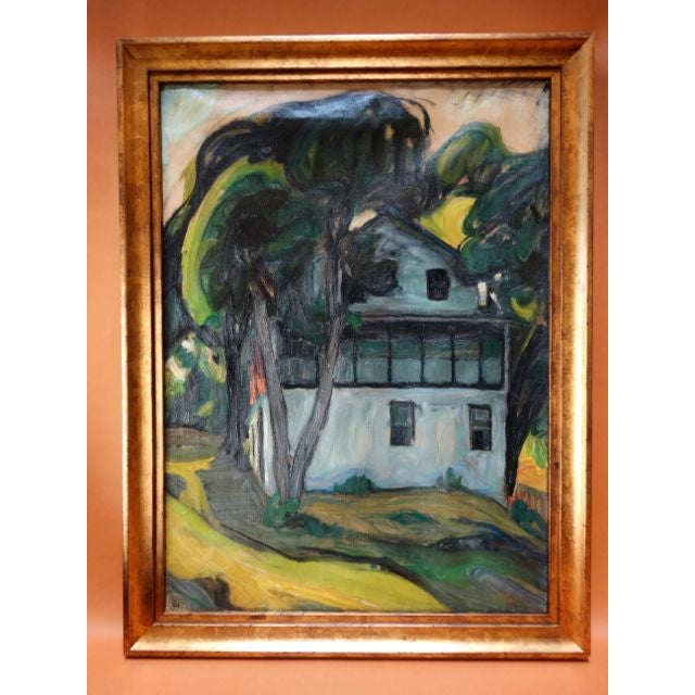"""Santa Barbara Adobe"" Painting by Ejnar Hansen For Sale - Image 7 of 7"