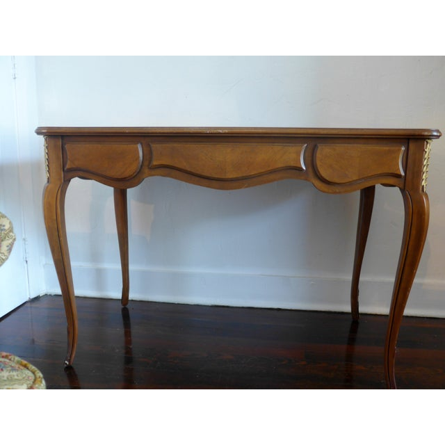 1960's Leather Top Writing Desk For Sale - Image 7 of 10