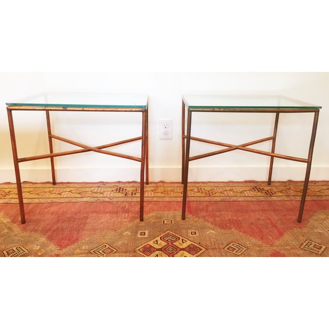 Vintage Copper Side Tables - A Pair - Image 2 of 6