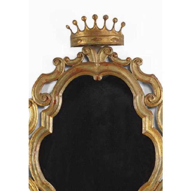 Italian 19th Century Italian Gilded Palladio Mirror With a Crown For Sale - Image 3 of 4