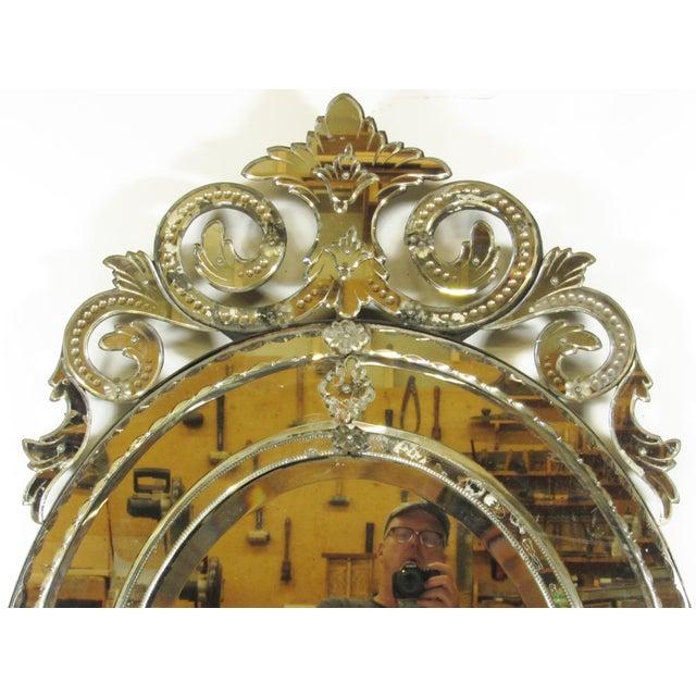 Italian Venetian Cut Glass Wall Mirror For Sale - Image 3 of 8