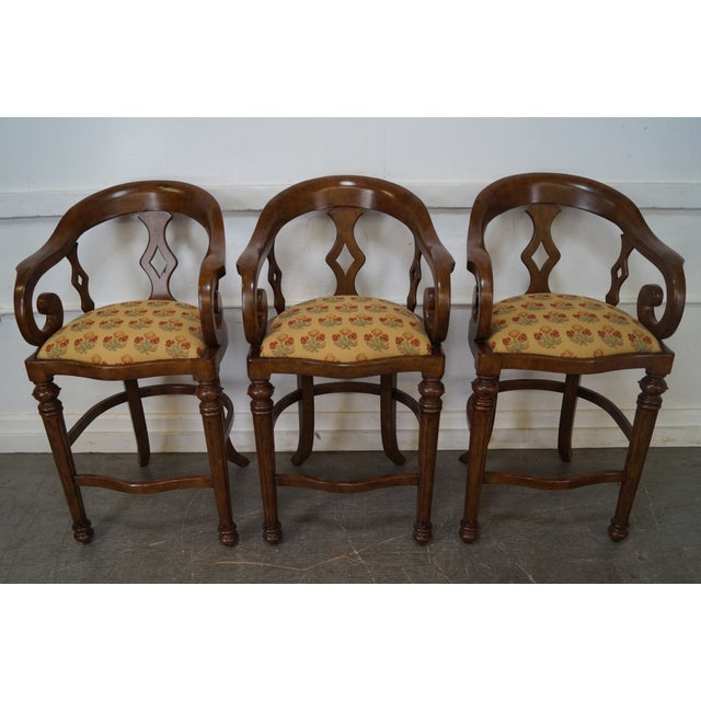 Minton Spidell Empire Style Burgess Barstools - Set of 3 - Image 2 of 10