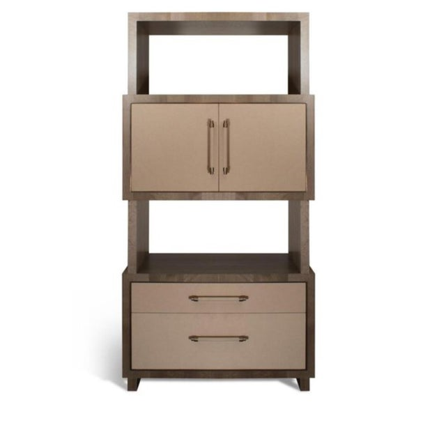 Modern Henredon East End Gray and Taupe Etagere For Sale - Image 9 of 9