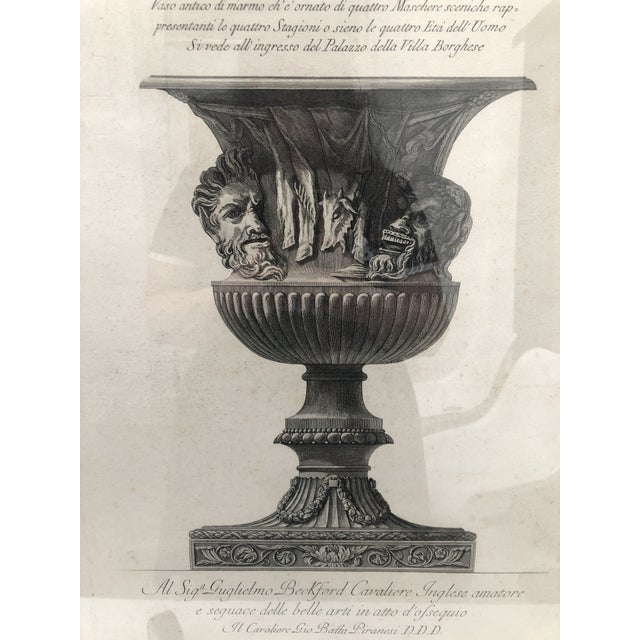 Traditional 19th Century Piranesi Style Engraving of Urn Decorated With Four Seasons/Four Stages of Man For Sale - Image 3 of 13