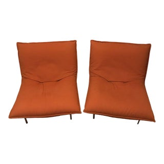 Pascal Mourgue for Ligne Roset Calin Fireside Pillow Chairs - a Pair For Sale