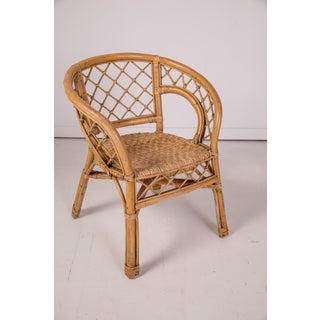 1950s Vintage Madcap Cottage Rattan Chair Preview