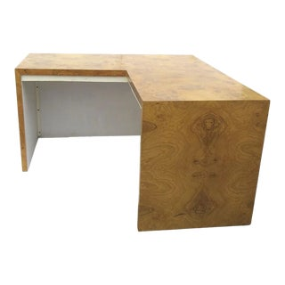 Burl Walnut Desk by Milo Baughman for Thayer Coggin For Sale