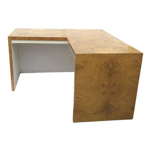 Burl Walnut Desk by Milo Baughman for Thayer Coggin For Sale