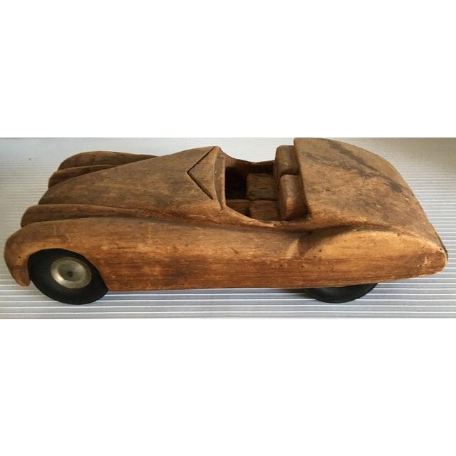 Antique Wooden Hand Carved Model Car - Image 3 of 11