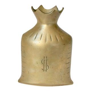 Brass Money Bag Model Vase