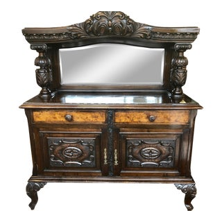 Circa 1850's Victorian Style Mahogany Sideboard For Sale
