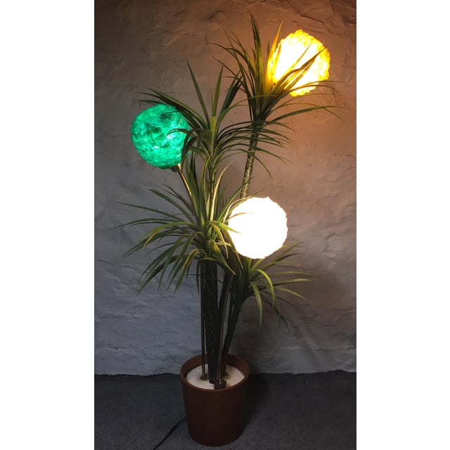 Mid-Century Spun Lucite Shade Palm Tree Floor Lamp - Image 3 of 10