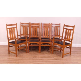Stickley Mission Collection Cherry Set 8 Dining Chairs Preview