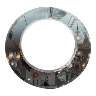 Custom Gray and Clear Circle Mirror For Sale