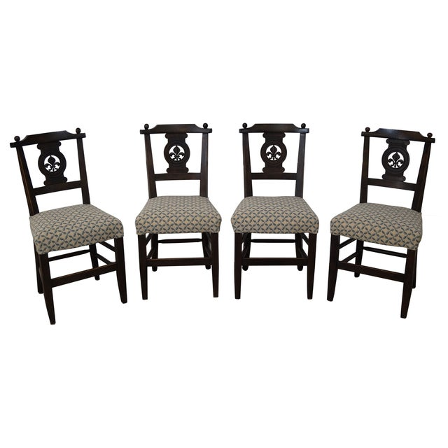Antique 19th C. French Country Dining Chairs - 4 - Image 1 of 10