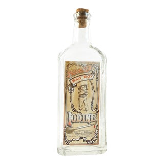Vintage Bensons Bad Boy Iodine Remedy Bottle