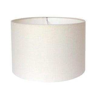 Medium Off-White Linen Custom Drum Lamp Shade For Sale