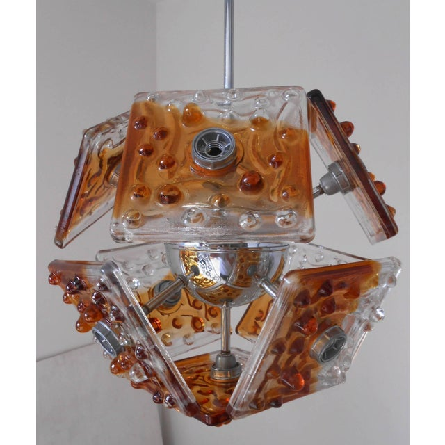 Contemporary Tiles Pendant by Mazzega For Sale - Image 3 of 4