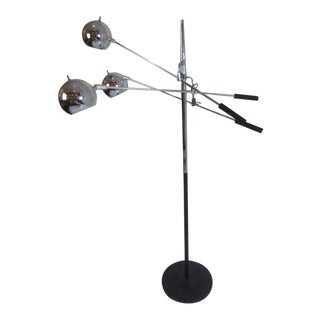 Robert Sonneman Atomic Ball Chrome Floor Lamp