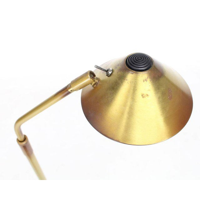 Mid-Century Modern Adjustable Mid-Century Modern Brass Floor Lamp George Kovacs For Sale - Image 3 of 9