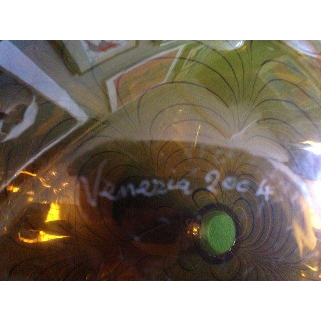 2000 - 2009 2004 Large Italian Alberto Dona Murano Hand Blown Swirled Art Glass Bottle Vase For Sale - Image 5 of 13