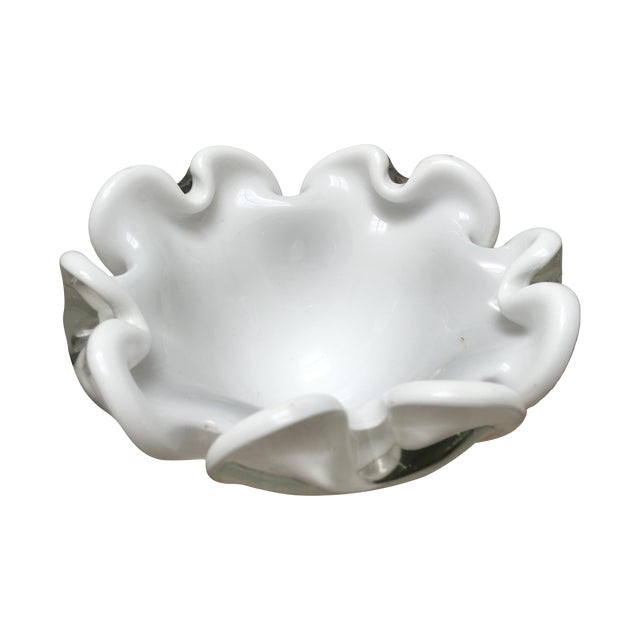 Murano Glass Bowl Italian Low Dish - Image 1 of 7