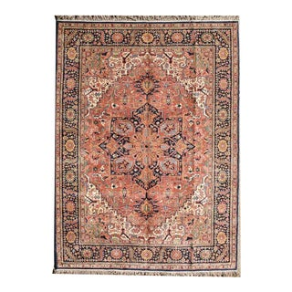 "Vintage Heriz Rug 10 Feet 2"" X 14 Feet 6"" For Sale"