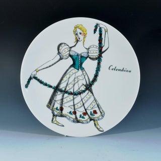 Piero Fornasetti Commedia Dell'arte Maschere Italiane Plates - Set of 4 Preview