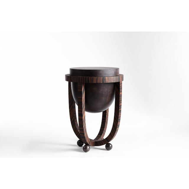 Apparatus Drum Occasional Table For Sale - Image 4 of 4