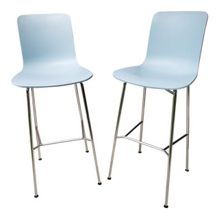 Modern MCM-Style Vitra Hal Barstools Kitchen Bar Stools- A Pair For Sale