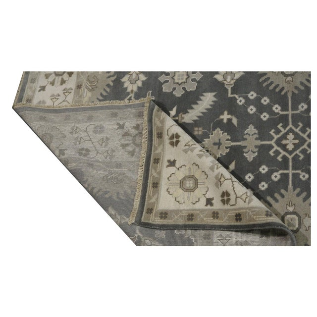 Hand Knotted Indian Oushak Rug - 8′1″ × 9′10″ For Sale - Image 4 of 4