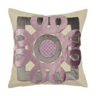Contemporary Tr Essentials Lilac Applique Pillow - 22x22 For Sale