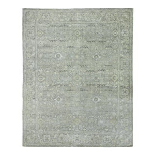 Exquisite Rugs Evie Hand Knotted Wool Gray & Multi - 9'x12' For Sale