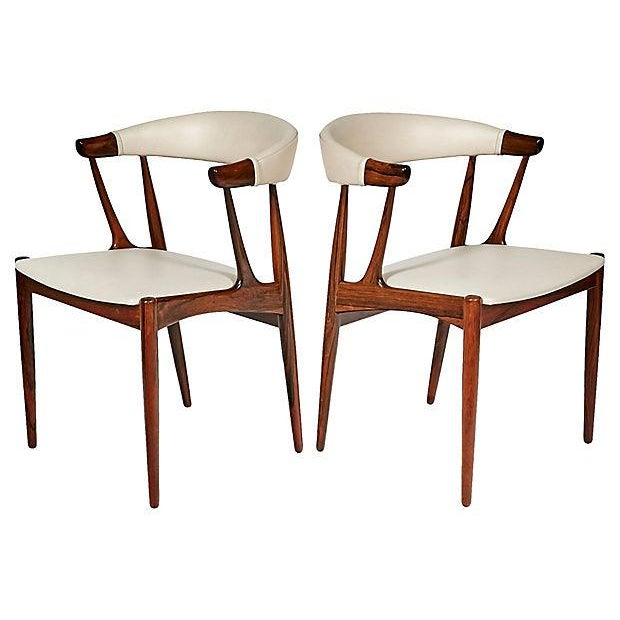 Danish Rosewood & Leather Dining Chairs - Image 3 of 12