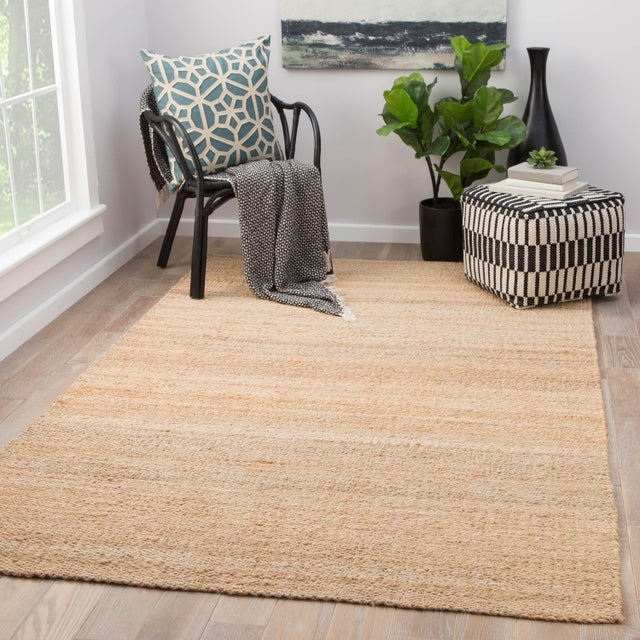2010s Jaipur Living Hutton Natural Solid Beige Area Rug - 5' X 8' For Sale - Image 5 of 6