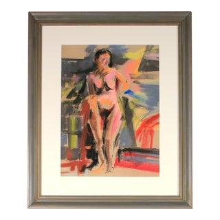Bright Female Figure in Pastel, 20th Century