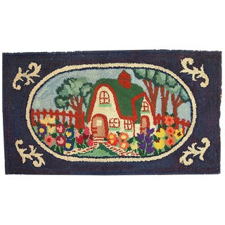 1920s Antique American Hooked Rug - 2′6″ × 4′3″ For Sale