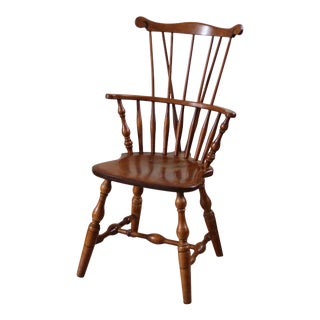 Late 20th Century Vintage Nichols & Stone Windsor Comb Back Arm Chair For Sale