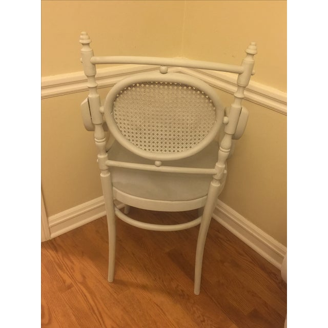 Light Gray Cane Back Chairs - A Pair - Image 4 of 4