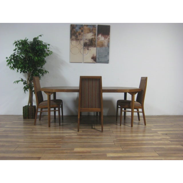 Vintage Dual Leaf Teak Dining Set - Image 3 of 11