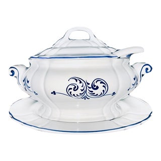 Loucarte Tureen with Lid, Ladle and Underplate For Sale