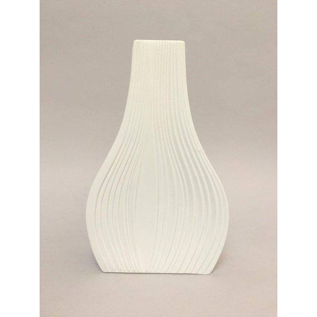 White Modernist Bisque Porcelain Naaman Onion Vase For Sale - Image 11 of 11