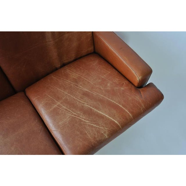 Orange Fredrik Kayser Leather and Rosewood Sofa For Sale - Image 8 of 8