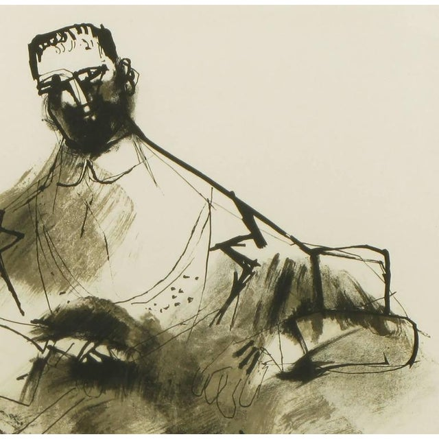 Abstract Expressionism Abraham Rattner (1893-1978) Black and White Limited Edition Print, Signed and Numbered For Sale - Image 3 of 7