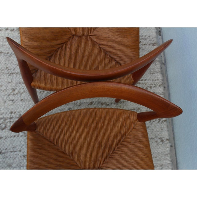 1950's Danish Teak Sculptural Dining Chairs - Set of 6 For Sale - Image 12 of 13
